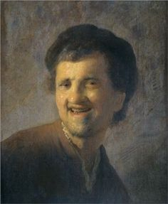Bust of a laughing young man - Rembrandt