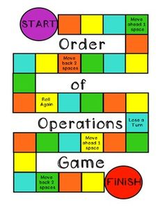 Math-o: Order of Operations | Math: Order of Operations ...