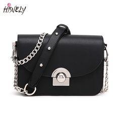0f58ba901 2017 Hot Venda Nova Moda Feminina Bolsas Messenger Bag Chains Senhora De  Couro PU Bolsa de