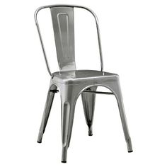 Walker Edison Metal Café Chair - Gun Metal : Target