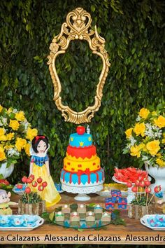 Snow White and the Seven Dwarfs themed birthday party with Lots of Really Great Ideas via Kara's Party Ideas   KarasPartyIdeas.com #snowwhit...