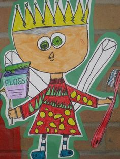"From exhibit ""Tooth fairies for dental health month"" 1st grade art"