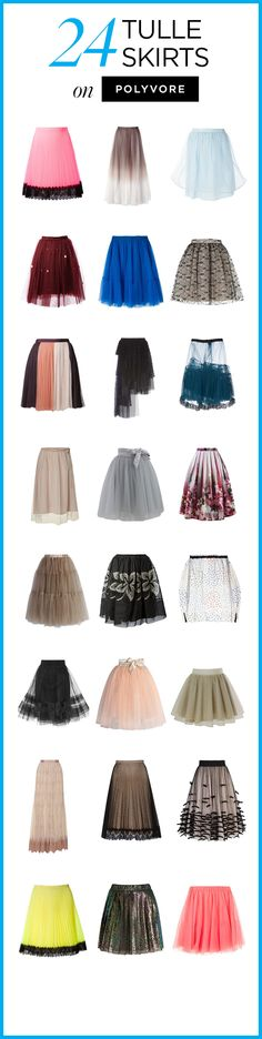 24 Tulle Skirts on Polyvore! Shop all classy, feminine, beautiful tulle skirt styles to find a look you love: http://polyv.re/TulleSkirts
