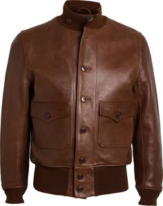 """The """"father of all flight jackets."""" The A-1 was adopted by the U.S. Army Air Corps in 1927 and was the first official jacket in the history of U.S. aviation, synonymous with famed pilots Charles Lindbergh and Jimmy Doolittle. The first """"wind..."""