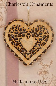 Heart Engraved Woode