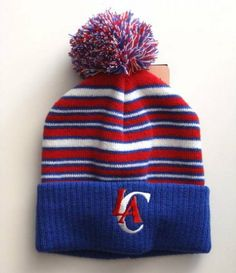 Amazon.com  Los Angeles Clippers adidas Pom Top Cuff Knit Hat Cap Beanie  Toddler 5dee1b536936