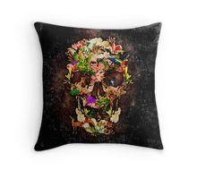 Animal Kingdom Sugar skull Throw Pillows #Pillow #PillowCase #PillowCover #CostumPillow #Cushion #deer #wolf #snake #skull #skeleton #dayofthedead #diasdemuertos #jackskellingtons #halloween #scary #thenightbeforechristmas #animal #bone #tattoo #hippie #hipster #aztec #maya #indian #feather #bird #butterfly #mexico #mexican #hauntedmansion #ghost #monster #sugarskull