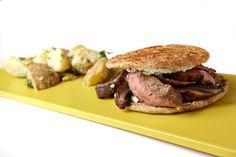 Grilled Steak and Portobello Mushroom Sandwiches in the Columbian
