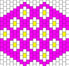 Kandi Patterns for Kandi Cuffs - Simple Pony Bead Patterns Kandi Mask Patterns, Pony Bead Patterns, Beading Patterns Free, Peyote Patterns, Kandi Cuff, Kandi Bracelets, Beaded Bracelets, Daisy Pattern, Packaging