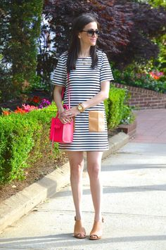 The Closet Crush | Striped Shift Dress
