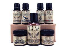 Man Gift Set Beard Sampler Wild Man Conditioner Cream Styling Wax Wash. $64.99