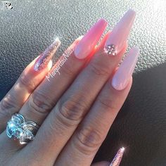 30 Stunning and Amazing Pink Acrylic Nails - Reny styles - coffin #nails #nailscoffin #coffinnails