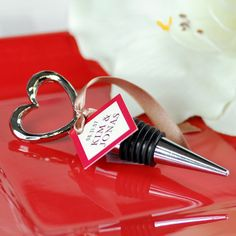 Open Heart Wine Bottle Stoppers, Wine Themed Shower Favors, Heart Shaped Wine Stopper