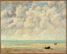 Gustave Courbet, el mar en calma, 1869, Nueva York