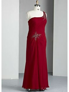a247be09fe8 Chiffon One-shoulder Ruffled Bodice Long Special Occasion Dress