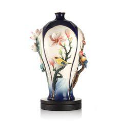 FRANZ PORCELAIN COLLECTION Peace of The Four Seasons Vase w/ Base FZ03104