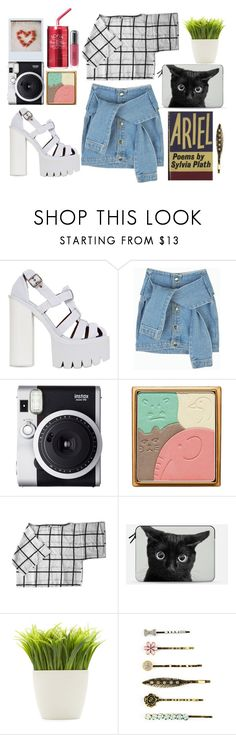 """Some nights you dance with tears in your eyes"" by karllydolly ❤ liked on Polyvore featuring Jeffrey Campbell, Fuji, Paul & Joe, My Mum Made It, Casetify, Dot & Bo, Carole and Revlon"
