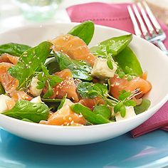 Green salad with salmon, tuna, or sardines: Feel full, lose weight, have more energy, and get healthier head-to-toe with these simple diet tweaks. | Health.com