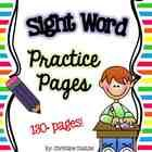 This pack includes over 130 pages of sight word practice!