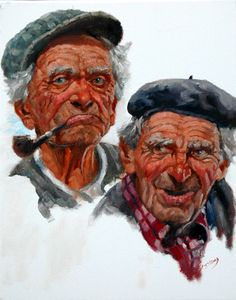Harry And Johnny County Sligo by Roy Lyndsay on ArtClick. Irish Art, Nature Paintings, Sound Of Music, Andy Warhol, Oil On Canvas, Ireland, Original Paintings, Old Things, Portrait