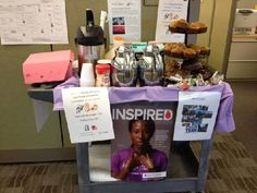 Fundraising idea:  Coffee Cart-hot chocolate, desserts, apples...sell at performance, events