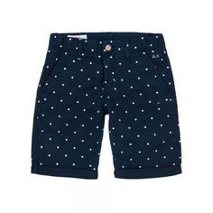 Boy's blue bermuda with white polka-dots SUN68 SS15 KIDS #SUN68 #SS15 #kids #boy #bermuda