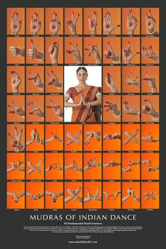 Hand Mudras of Indian Classical Dance. Mudras tell a story.and they are also used in healing meditations similar to reflexology. Folk Dance, Dance Art, Art Bouddhique, Kathak Dance, Hand Mudras, Indian Classical Dance, Tribal Belly Dance, Dance Poses, Belly Dancers