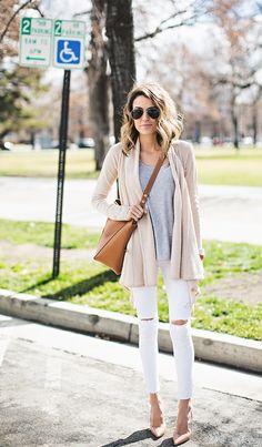 white, gray + tan.