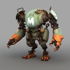 Pascal blanché scifi robots cyborgs & mecha in 2019 - robot Arte Robot, Robot Art, 3d Character, Character Concept, Cool Robots, Robot Concept Art, Rat Fink, Space Invaders, 3d Models