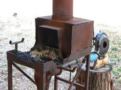Mini Whitlox Wood Fired Forge Garage Organization Mini
