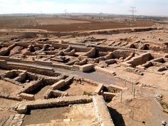 "Excavations at Beersheba, town founded by Abraham. Imagine seeing Isaac and Ishmael playing in the streets and learning from their father about a ""new"" God, a God who was the only, true God, a God whom no one can see, but who had created all things. / qw"