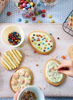 Get creative this Easter with these colourful egg biscuits. They're fun to make, and even more fun to eat!