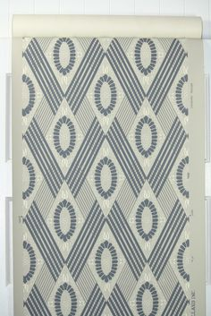 1950's Vintage Wallpaper Gray and Blue by HannahsTreasures