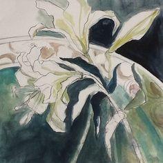 "Renee Leslie. SA Artist. on Instagram: ""#lilies #platedpics #decorative"" Art Flowers, Flower Art, Lilies, Artist, Painting, Instagram, Ideas, Decor, Art Floral"