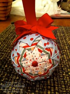Jill's Card Creations, Quilted Christmas Ornament
