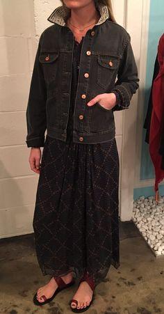 UPDATED DENIM Isabel Marant Baphir Dress | Isabel Marant Christa Denim Jacket (in store only)| Isabel Marant Jusip Sandal