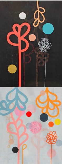 paintings on linen by rachel castle