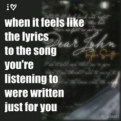 Lyrics speak to me... or sing rather...