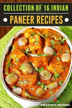 Paneer recipes – Collection of 60 easy, amazing & delicious Indian paneer recipes with videos & step-by-step photos. Paneer is a basic kind of non-melting cheese used in Indian cuisine. Apart from lentils, it is a most common source of protein and calcium to the vegetarian Indians. Indian Paneer Recipes, North Indian Recipes, Indian Food Recipes, Recipe For Paneer, Curry Recipes, Crockpot Recipes, Vegetarian Recipes, Cooking Recipes, Healthy Recipes