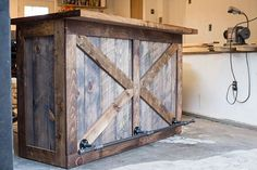 Rustic Bar / Wine Bar / Liquor Cabinet / Dry Bar / Wine Storage /