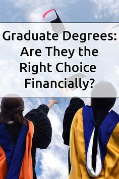 You have to ask yourself if a graduate degree is worth it. With all high student loans and monthly payments, it can feel like the extra years in college aren't worth it. Read this to learn what you should do. via @DebtFreeG