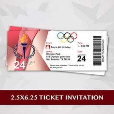Olympic Party Ticket Invitation