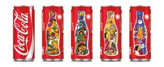 Can designs promoting thefamous festivities ofCatalan.  The brand design agency of Publicis Groupe, has created a memorable collectible series of Coca Cola Sleeks for sale in Out of Home market, including the Light and Zero varieties.