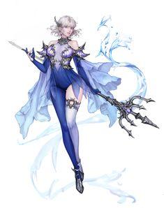 ArtStation - Nereides, YU HANSOL Female Character Design, Character Design References, Character Design Inspiration, Character Concept, Character Art, Fantasy Art Women, Beautiful Fantasy Art, Fantasy Girl, Fantasy Armor