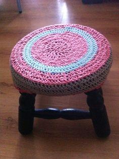 Cobertor de banquito en crochet