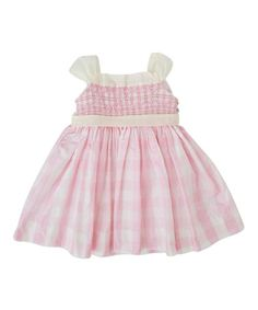 Look what I found on #zulily! Pink Gingham Smocked Dress - Infant & Girls by Boutique Collection by Imagewear #zulilyfinds