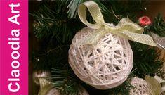 Bombka z włóczki z brokatem (bauble yarn with glitter)