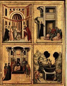 Maestro della Santa Cecilia - Santa Cecilia e storie della sua vita, particolare - 1304 circa - Galleria degli Uffizi, Firenze