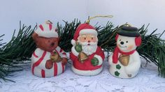 Vintage Giftco Christmas Ornaments and Bell by LoriannsVarietyShop, $15.00