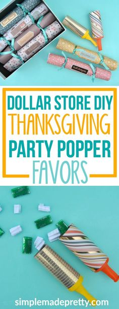 What a fun Thanksgiving activities for adults and party game! These were the perfect Thanksgiving party favors for adults and kids that I've found online! I'm also going to make this dollar store craft DIY for a Christmas table setting because it was cheap and easy Thanksgiving decorations and crafts. She also has a free printable and how-to video that was really helpful. via @SMPblog